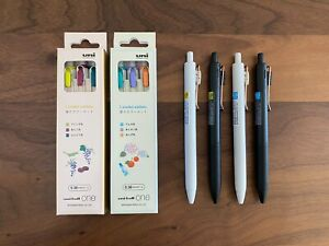 New Uni-ball One Ballpoint Pen Spring Summer Packs & Gold Clip Pens, Total 10
