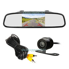 "4.3"" TFT LCD Car Rear View Mirror Monitor Kit +Mini Reversing Backup Camera 170°"