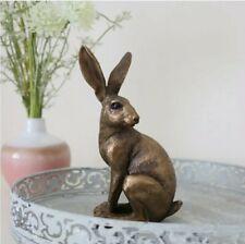 Bronze Sitting Hare Figurine Ornament