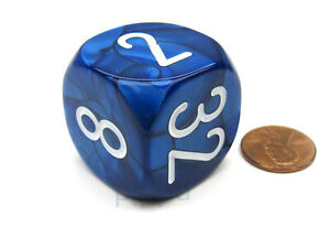 Large Backgammon 30mm Doubling Cube Dice - Blue