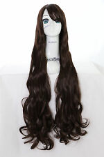Y-20-24 Marron foncé Brown 100cm cosplay wig perruque perruque curl cheveux bouclés