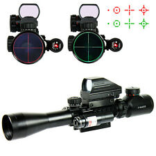 3-9X40 Tactical Rifle Scope with Holographic 4 Reticle Sight & Red Laser JG8