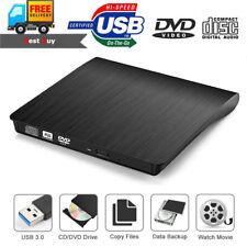 External USB 3.0 DVD CD-ROM Ultra Slim Optical Drive Reader Player For Laptop PC