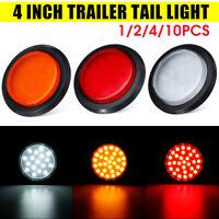 4'' 30 LED Tail Brake Reverse Light Indicator Round Trailer Truck Boat