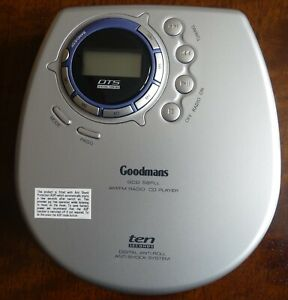 Goodmans Portable Personal CD player Model GCD 58PLL with carry case