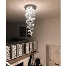 LED Crystal Spiral Raindrop Chandelier Lighting Gorgeous Ceiling Light Fixture