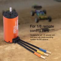 Hi-efficiency 3670 1900KV 4Poles 5mm Sensorless Brushless Motor for 1/8 RC Car❤o