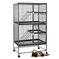 Black Ferret cage chewproof large 92cm x 64cm x 160cm 14mm bar spacing Aventura