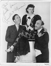 PHOTOGRAPH RUSSELL & MARCONI MUSIC HALL DOUBLE ACT HAND SIGNED PRETTY GIRL