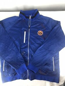 ZIPWAY NEW YORK KNICKS Track Warm Up Jacket Full Zip Snap XXL Blue NEW
