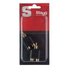 Stagg 2x RCA Phono Cinch Female to 1x RCA Phono Cinch Male Audio Y Adaptor 2 Pk
