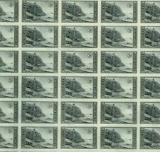 #762 7 cent PARKS ACADIA IMPERF FULL MINT SHEET OF 50 NO GUM AS ISSUED