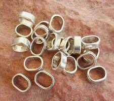 20 Metallperlen Schiebeperlen 13x10mm altsilber Großlochperlen Spacer Beads