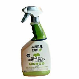 Natural Care + Flea & Tick Home Spray w/ Peppermint Oil & Eugenol 32 OZ NEW