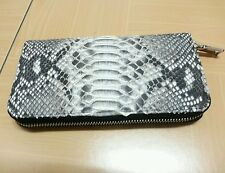 1 PC PYTHON SKIN UNISEX WALLET PURSE BAG CASE IN NATURAL COLOR GOOD QUALITY AAA