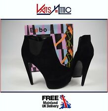 Ladies Bebo Sharan Black Extreme Heel Sexy Faux Suede Ankle Boots UK 7