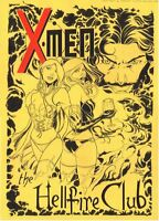 X-Men Original Art Sketch Hellfire Club