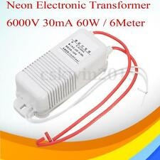 6M Neon Electronic Transformer  6KV 6000V 30mA 60W Neon Rectifier Power Supply