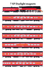 Southern Pacific 4-8-4 #4449 & Daylight Passenger Train magnets Andy Fletcher