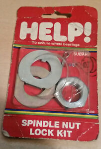 Help 04998 Subaru Spindle Nut Lock Kit - For Rear Wheel (except 4wd models)