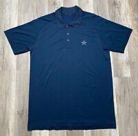 Lululemon Men's Metal Vent Tech Polo Blue Navy Short Sleeve Shirt Cowboys Sz S