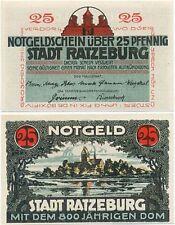 Ratzeburg, 1 Schein Notgeld 1921, Stadt, Dom, 25 Pfennig
