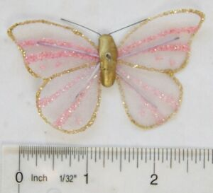 vintage: gold & pink butterfly