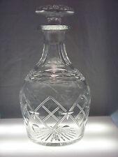 Beautiful Cut Glass Liquor Decanter Mid 20th Century Dots & Diamonds EUC