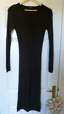 Therapy Black Metallic Thread Knit Maxi Dress. New with tags. Size 14