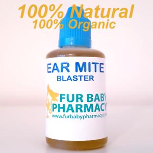 100% NATURAL. 100% ORGANIC Ear Drops for Pet Dog Cat Blast Mites Clears Wax 30ML