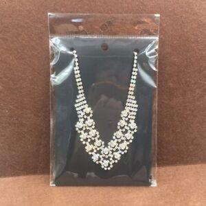50pcs 15*10cm Kraft Necklace Cards+50pcs OPP Bags, Big Necklace Packaging