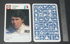 CARTE COUREUR AUTOMOBILE 1984 FORMULE 1 GRAND PRIX F1 PHILIPPE ALLIOT RAM