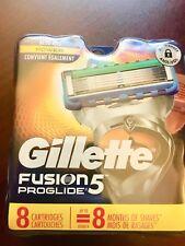 Gillette Fusion5 ProGlide Men's Razor 5 Blades Refills 8 Count Fusion NEW