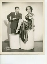 8 X 10 Photo Entertainers Billy & Idyll Shaw Comedy Unicycle By Bloom of Chicago