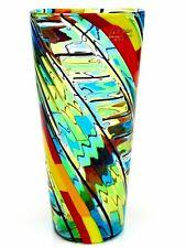 X RARE! Signed By Ballarin Stunning Murano Art Glass Mazzega Murrine Vase