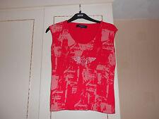 """Designer Jasper Conran Size XL Red Cotton Top: BNWOT: 36"""" Chest"""