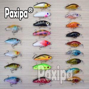 Sales Promotion! Lot 22pcs Mixed Minnow Fishing Lures Bass Crankbait Sharp Hooks