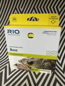 RIO MAINSTREAM BASS NEW WF-10-F #10 WEIGHT FORWARD FLOATING FLY LINE YELLOW