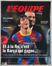 Equipe Magazine 1503 Lievremont Barça FC Barcelone Real de Madrid Messi 2011