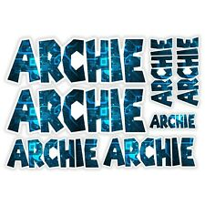 ARCHIE Vinyl Name Stickers A5 Sheet Computer Chip Laptop Name Kids Gift #30011