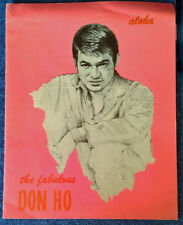 "DON HO - ALOHA / THE FABULOUS DON HO - 10 1/2"" X 13"" CONCERT SOUVENIR PROGRAM"