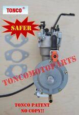Safer 190F dual fuel carburetor generator GX420 manualchoke Propane/LPG/NG TONCO