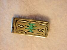 Money clip, lovely design and blue stone! great condition !