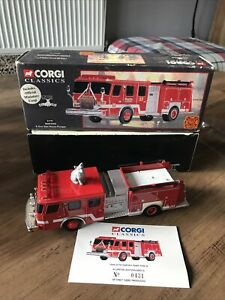 CORGI 54701 BOSTON FIRE DEPT. E-ONE SIDE MOUNT PUMPER 1/50 LTD EDT No 0431