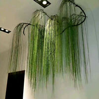 Artificial Plastic Simulation Grass Leaves Fake Plants Wall Hanging Home Decor