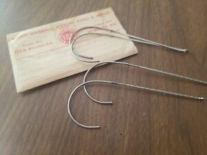 4 Vintage Wire Rim Replacement Temple Eyeglass Silvertone