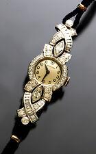 Womens Luxery Dress Platinum Diamond Hamilton Watch with 5-Carats TW of Diamonds