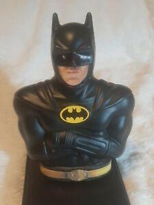 1989 Batman Piggy Bank Michael Keaton Vintage DC Comics