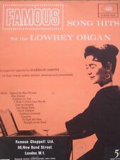 Famous Song Hits for the Lowrey Organ Sheet Music by Barron Smith