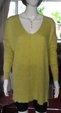 Long Mottled Yellow Part Wool Jumper From Atmosphere Size Small